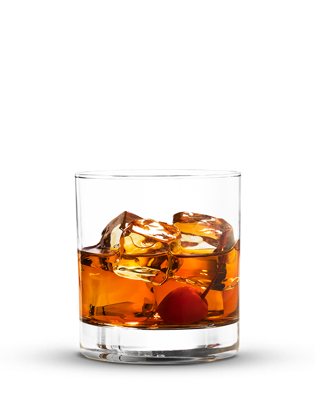 כוס ויסקי עם קרח