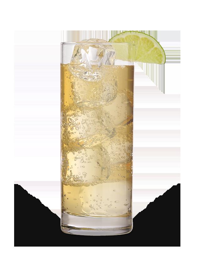 כוס ויסקי גבוהה עם קרח ולימון